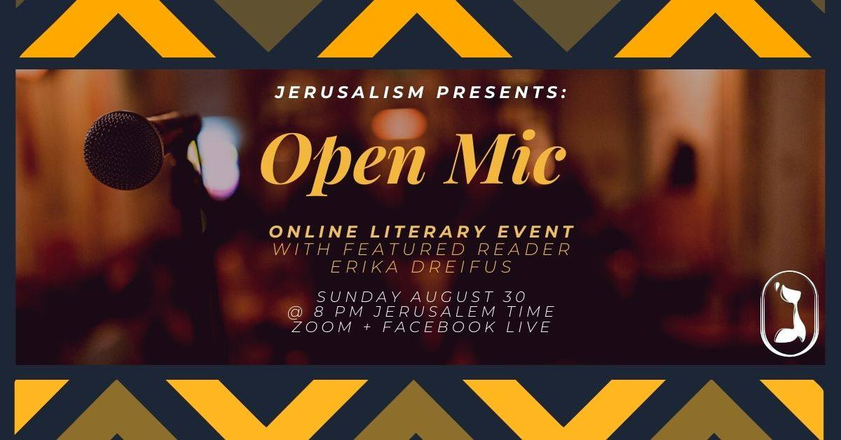 Open Mic with featured reader Erika Dreifus